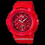 นาฬิกา Casio Baby-G BGA-195M Metal Dial series รุ่น BGA-195M-4A แดงทับทิม ของแท้ รับประกัน1ปี