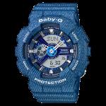 นาฬิกา Casio Baby-G ลายยีนส์ Denim Color series รุ่น BA-110DC-2A2 (สี Blue Jean) ของแท้ รับประกัน1ปี