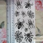 YM-X089 สติ๊กเกอร์ลายสัก tattoo ลายแมงมุม18 x 7 cm