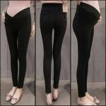 กางเกงผ้ายืดนาโน สีดำสนิท เนื้อผ้ายืดมาก เอวต่ำทรง v รุ่นนี้มีกระเป๋า