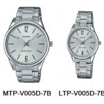 นาฬิกา คาสิโอ Casio SETคู่รัก รุ่น MTP-V005D-7B+LTP-V005D-7B ของแท้ รับประกัน 1 ปี
