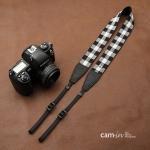 สายคล้องกล้องสวยๆ ลายสก๊อตสีขาวดำ cam-in Scott Black and White