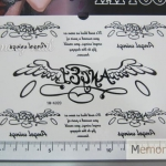 YM-K020 สติ๊กเกอร์สักแฟชั่น sticker tattoo ลายปีก15.5x10.8 cm