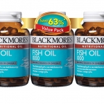 Blackmores fish oil value pack 3 80เม็ด 3 ขวด