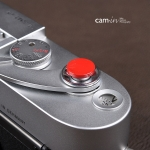Soft Shutter Release ปุ่มเว้าลง สีเแดง กดง่ายสะดวก สำหรับ Fuji XT10 X10 X20 X30 X100 Leica ฯลฯ