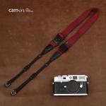 สายคล้องกล้องเส้นเล็กปรับสายสั้นยาวได้ Cam-in รุ่น Ninja สีม่วง 25 mm