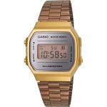 นาฬิกา คาสิโอ Casio STANDARD DIGITAL Vintage รุ่น A168WECM-5 (สี Copper) ของแท้ รับประกัน 1 ปี