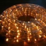 ไฟท่อ LED 2 สายกลม สีเหลือง 10 เมตร มีคอนโทรล