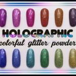 Holographic colorful glitter powder ผงรุ้งกากเพชร ฮอโลกราฟี ชุด12สี