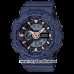 นาฬิกา Casio Baby-G BA-110DE Denim fabric Elements series รุ่น BA-110DE-2A1 ของแท้ รับประกัน1ปี
