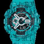 นาฬิกา คาสิโอ Casio G-Shock Limited Slash Pattern series รุ่น GA-110SL-3A สีมิ้นท์ช็อคโกแลตชิพ (หายากมาก)