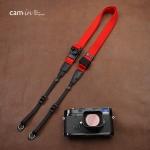 สายคล้องกล้องเส้นเล็กปรับสายสั้นยาวได้ Cam-in รุ่น Ninja สีแดง 25 mm