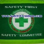 ตัวอย่างปลอกแขน SAFETY FIRST SAFETY COMMITTEE