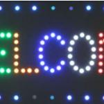 ป้ายไฟ LED OPEN สีรวม 48x25 cm.