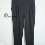 กางเกงขายาว ผ้าฮานาโกะญี่ปุ่น สีดำ 3F เอว 40-48 นิ้ว