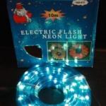 ไฟท่อ LED 2 สายกลม สีฟ้า 10 เมตร มีคอนโทรล