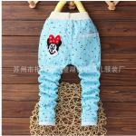 กางเกงขายาวมินนี่สีฟ้า (1-5 ปี)