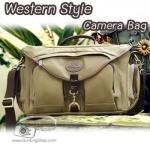 กระเป๋ากล้องสะพายไหล่ รุ่น Western Style งานสวย คุณภาพดี
