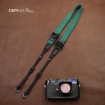 สายคล้องกล้องเส้นเล็กปรับสายสั้นยาวได้ Cam-in รุ่น Ninja สีเขียว 25 mm