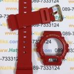 กรอบ สาย นาฬิกา G-shock ของแท้ แดงเงา-ตะขอทอง (DW-6930)