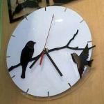 นาฬิกาแขวนผนัง อะคริลิค ลายนก