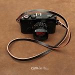 สายคล้องกล้องหนังแท้เส้นเล็ก Cam-in leather camera strap สีดำ