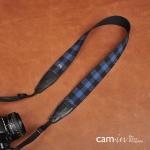 สายคล้องกล้องสวยๆ ลายสก๊อตน้ำเงินเข้ม cam-in Dark Blue Scott