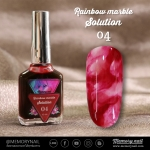 น้ำยาหินอ่อน Rainbow marble Solution รหัส 04 สีแดง