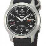 นาฬิกาข้อมือ SEIKO 5 Military Automatic Nylon men's watch รุ่น SNK809K2 (สายสีดำ)