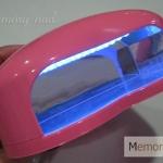 เครื่องอบเจล LED ทรงหัวใจ ขนาดเล็ก สีชมพู
