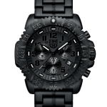 นาฬิกา Luminox รุ่น LUMINOX XS.3082.BO (สายข้อแข็ง PC Carbon) Men Navy SEAL Blackout Chronograph