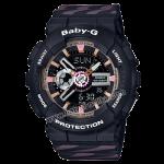 นาฬิกา Casio Baby-G BA-110CH CHANCE series รุ่น BA-110CH-1A (สีดำสายลายริบบิ้น) ของแท้ รับประกัน1ปี