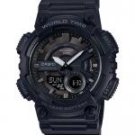 นาฬิกา Casio 10 YEAR BATTERY รุ่น AEQ-110W-1BV (Black Out) ของแท้ รับประกัน 1 ปี