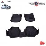 พรมรถยนต์ 6 D Leather Car Mat จำนวน 3 ชิ้น SUZUKI SWIFT 2012-2016