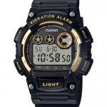 นาฬิกา คาสิโอ Casio แบตเตอรี่ 10 ปี GOLD Color Acccent series รุ่น W-735H-1A2V (ดำทอง) ของแท้ รับประกัน 1 ปี