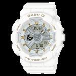 นาฬิกา Casio Baby-G Girl's Generation Gold Attractive Accent series รุ่น BA-110GA-7A1 (สีขาวขีดทอง) ของแท้ รับประกัน1ปี