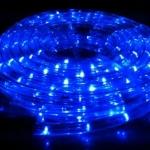 ไฟท่อ LED 2 สาย กลม สีฟ้า เกรด A