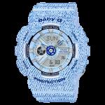 นาฬิกา Casio Baby-G ลายยีนส์ Denim Color series รุ่น BA-110DC-2A3 (สี Baby Blue Jean) ของแท้ รับประกัน1ปี