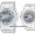 นาฬิกา Casio G-SHOCK x BABY-G คู่เจลลี่ใส เซ็ตคู่รัก CORAL REEF series รุ่น GA-110CR-7A x BA-110CR-7A Pair set (เจลลี่ขาวใส) ของแท้ รับประกัน 1 ปี