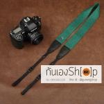 สายกล้องคล้องคอ cam-in Simple Green ปลายดำ