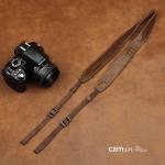 สายคล้องกล้องหนังแท้ cam-in Genuine Leather สีน้ำตาลเข้ม