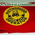 ปลอกแขน Authorized Forklift Operator สกรีนเฟล็กซ์