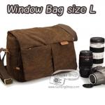 กระเป๋ากล้องหนังแท้ และแคนวาส Window Bag Size L (Pre Order)