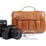 Trendy Brown Leather Bag (ขนาดกลาง) (Pre)