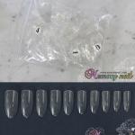 เล็บPVC เต็มเล็บ ทรงอัลมอนด์ สีใส แบบถุง