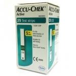 แผ่นวัดน้ำตาล Srip Accu- Chek Active 25 Tests