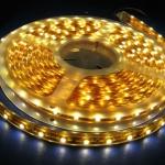 ไฟริบบิ้นสีเหลือง (Warm White) LED 60 ดวง 5M 12V