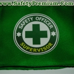 ปลอกแขน SAFETY สกรีนเฟล็กส์ (Image Flex หรือ flex sticker )