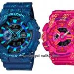 นาฬิกา คาสิโอ Casio G-Shock x Baby-G เซ็ตคู่รัก Textile pattern series รุ่น GA-110TX-2A x BA-110TX-4A Pair set ของแท้ รับประกัน 1 ปี