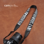 สายกล้องห้อยคล้องคอ ลายม้าลาย cam-in Zebra
